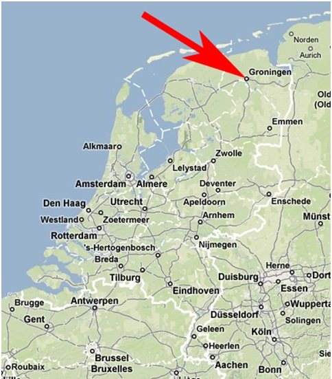 Groningen na mapie