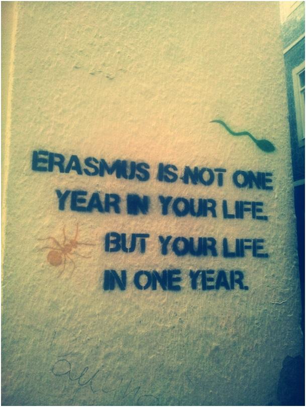 Napis na jednej ze ścian na Erasmus Corner ;)