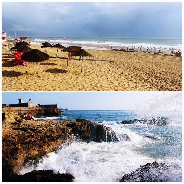 Plaża Carcavelos – ok. 20 min. jazdy pociągiem z dworca kolejowego Cais do Sodré