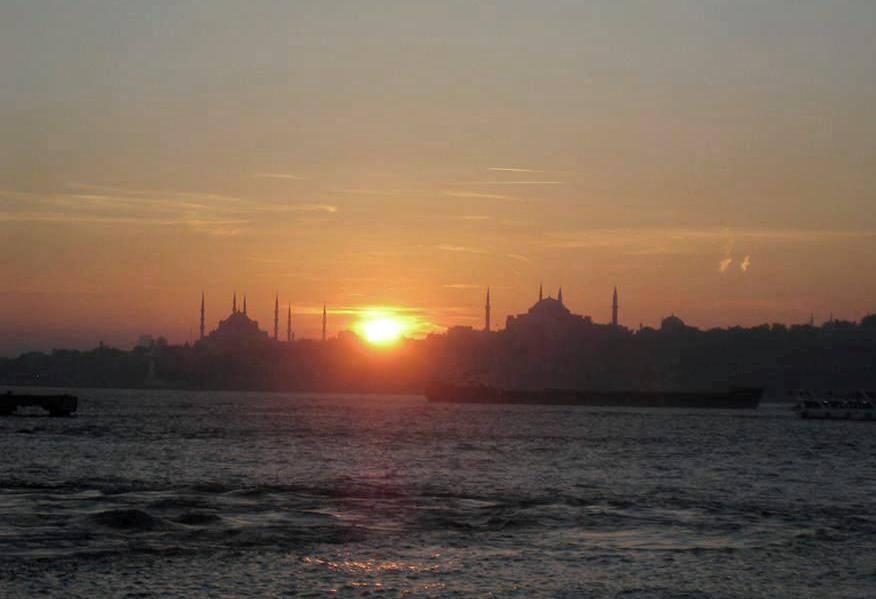 Zachód słońca w Stambule