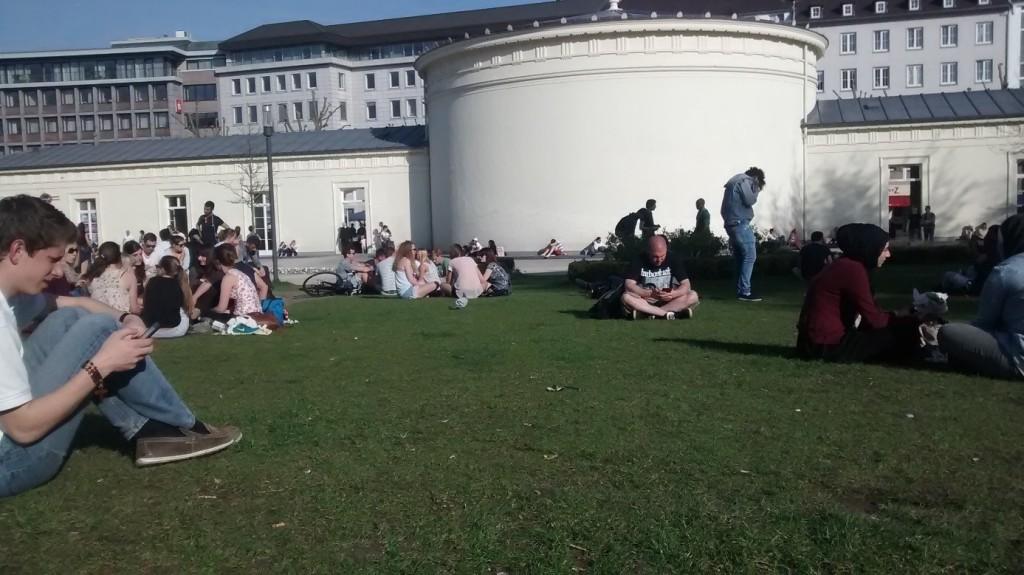 Elissenbrunnen miejsce w centrum spotkań w Aachen