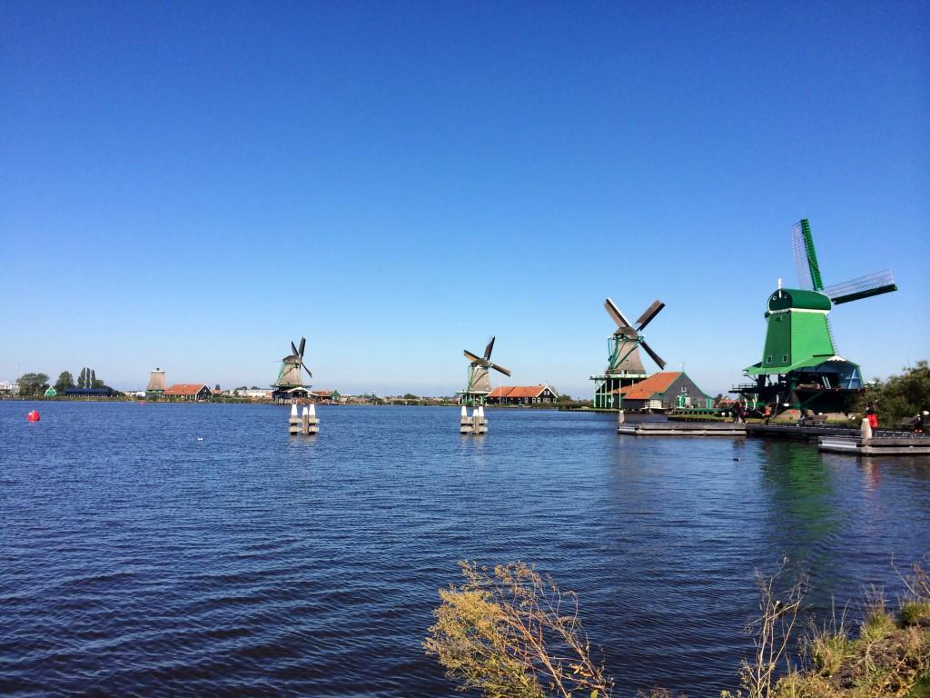 Jedną z atrakcji przygotowanych przez uczelnię w ramach kursu Dutch Language and Culture była wycieczka do skansenu wiatraków Zaanse Schaan Fot. autor