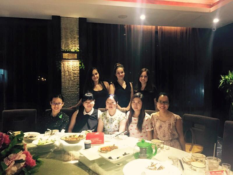 Pożegnalna kolacja z naszymi wykładowcami