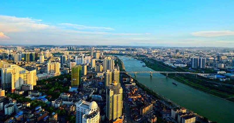 Panorama Nanningu. żródło: chinasage.info