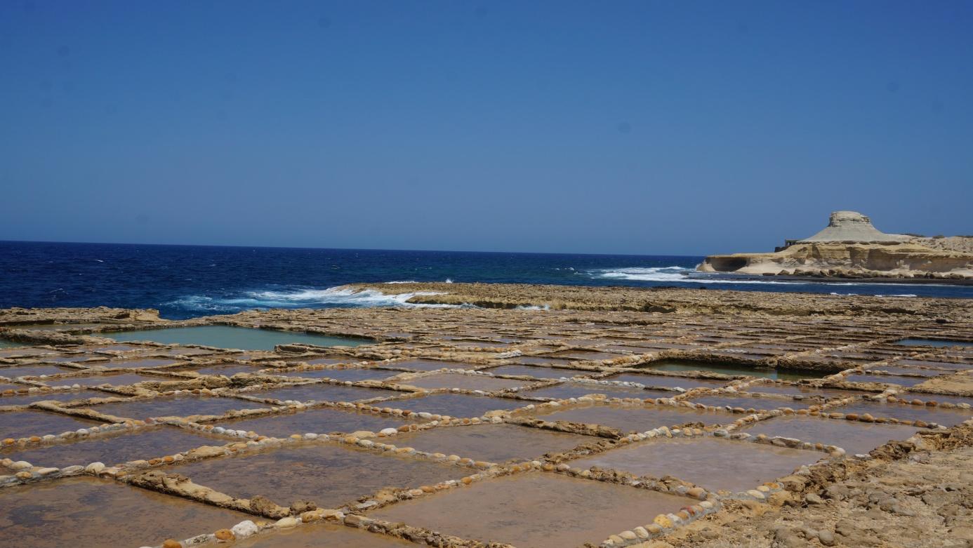 Salt Pans w Żebbuġ Źródło: zbiór własny autora
